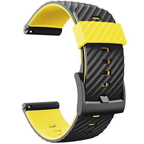 N/0 LINhuahua Ersatzarmband für Suunto 7/9/Baro/D5, weiches Silikon, Smartwatch-Armband mit Schnellverschluss