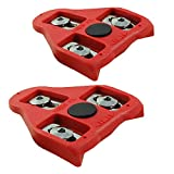 MARQUE Bike Cleats Compatible with Look Delta Pedals (9 Degree Float) - Cleat Set for Peloton Indoor Cycling and Outdoor Road Cycling Designed for Women and Men Clipless Spinning and Cycle Shoes