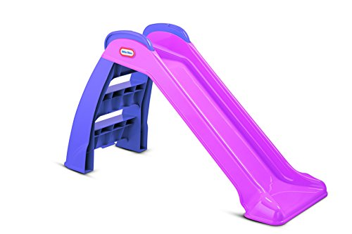 Little Tikes First Slide - Playset for Indoor or Outdoor Use. Garden Toy and Outdoor Activity for Kids, Durable, Stable, Kid-Safe. Pink & Purple Garden Toy. For Ages 18 Months+