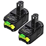 MASIONE 2Pack 4.0Ah P108 Batteries Replace for Ryobi 18V Battery P102 P103 P105 P107 P104 P109 P122