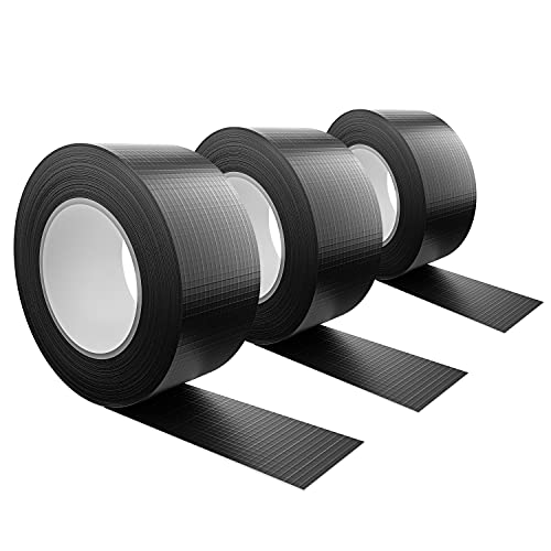 Tape-King [50m x 48mm] Panzertape wasserfest mit extremer Klebkraft I Korrigierbares Panzerband handreißbar I Gewebeband, Gaffa Tape, Duct Tape (3xschwarz)
