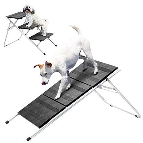 Rampa Portátil Para Perros, 13,7 X 7,8 Pulgadas 2 En 1 Escaleras Para Mascotas Antideslizante Escalera Plegable Para Cachorros Reposapiés Ligero Para Mascotas Oso De 100 Libras Para Sofá, Camas Altas