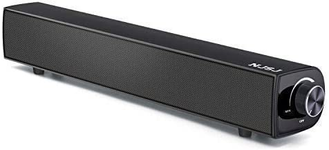 NJSJ Computer Sound Bar,Bluetooth Speaker Soundbar, 20W Wired Wireless Audio Stereo for TV Speaker, AwesomeWare Surround Amplifier for PC, Cellphone, Tablets, Projector, Wireless Devices
