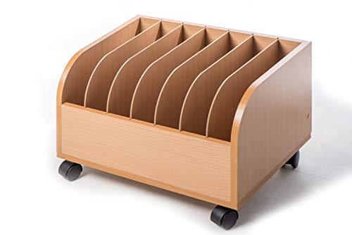 LEJUE 収納ワゴン デスク下ワゴン ファイルワゴン ランドセル収納 書類整理ワゴン リビング学習ワゴン マガジンラック 多目的ボックス 幅45 x 奥行35 x 高さ30.5 cm (ナチュラル)