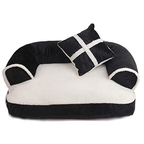 ZZmeet Comfortabele Huisdier Sofa Warm Zacht Fluweel Grote Hond Bed Puppy House Kennel Gezellige Kat Nest Slapende Mat Kussen Huisdier Beddengoed, 60x40x11cm, Koffie