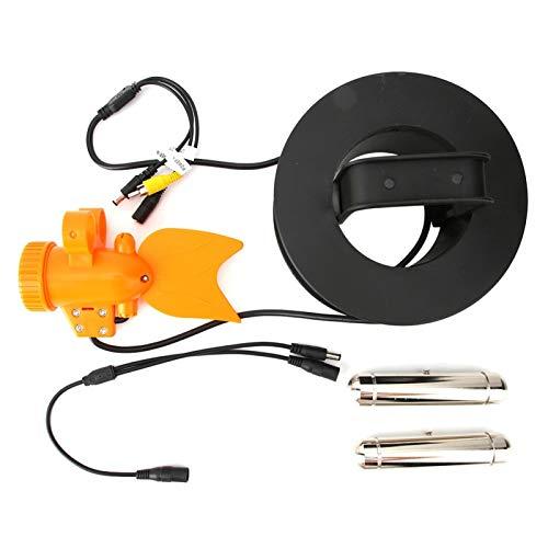 DAUERHAFT Videocamera per Pesca Subacquea Videocamera per Pesci a LED Modello di Pesce Design Ideale per Il monitoraggio dell'acquacoltura(30 Meters Long)