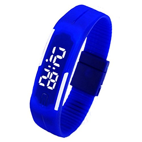 腕時計 ウォッチ デジタル表示 多機能 スポーツウォッチ ランニングウォッチ 防水 子供用 LEDライト付き 誕生日プレゼント 入学祝い 子供腕時計 キッズ腕時計 軽量 簡潔 省エネ (ブルー)