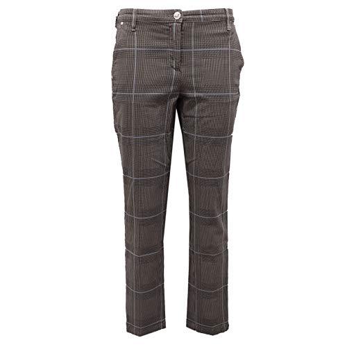 Jacob Cohen 6449AB Pantalone Donna Grey/Light Blue Checked Trouser Woman [26]