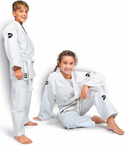 Green Hill Junior Traje de judo para niños, Kimono Gi, color Weiss, tamaño 90