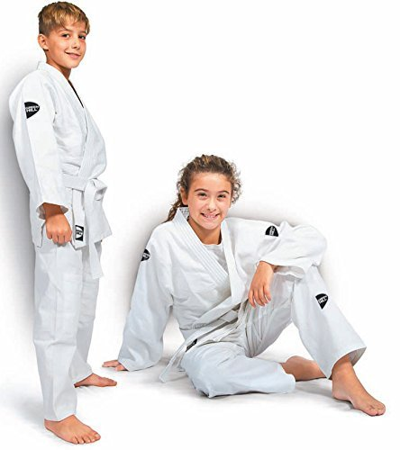 Green Hill Junior Traje de judo para niños, Kimono Gi, color Weiss, tamaño 90