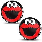 Biomar Labs® 2 x 3D Gel Pegatinas Silicona Stickers Adhesivo Autos Coches Motocicletas Ciclomotores Bicicletas Ordenador Portátil Negro Rojo Elmo Cookie Monster KS 82