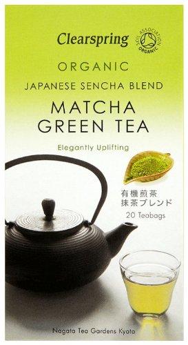 Clearspring - Te Verde Japones Bio con Matcha - 20 bolsitas - 40 g