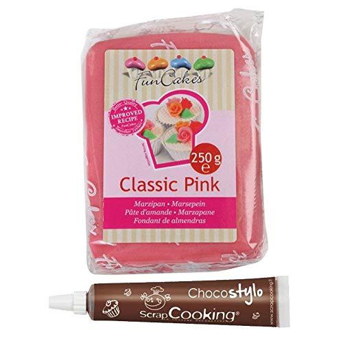 Marzipan 250 g Rosa + Schokolade aus der Tube für Kuchendekoration