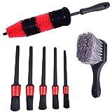 7 Pcs Car Wheel Cleaning Brush Tool Tire Washing...