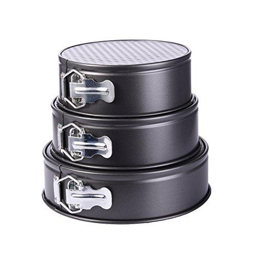 Set of 3 Nonstick Springform Cake Pan Leakproof Round Cake Pans Set