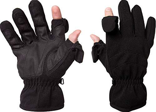 Easy Off Gloves Guanti da Pesca, Sci e Fotografia. Punte per Dita fissate con Magnete Pieghevole (Medio EU 9)