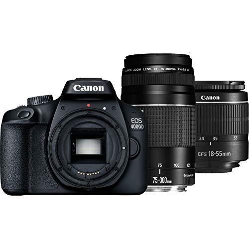 Canon EOS 4000D Kit EF S 18 55 DC III 75 300 DC 3011C010 DC III 75 300 DC