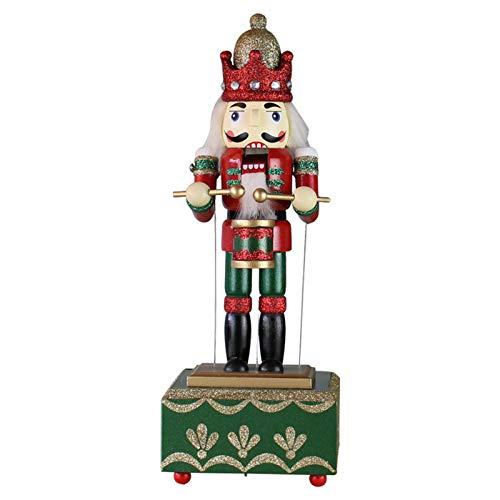 Weihnachten Nussknacker Figur Weihnachtsschmuck, Soldat Auf Stand Weihnachtsdekorationen, Holz Nussknacker Weihnachtsdekorationen, Weihnachten Spieluhr Musical Nussknacker Home Decor Ornament