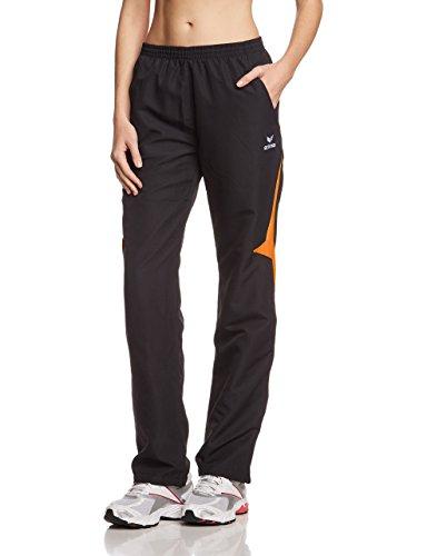 Erima Razor Line - Pantalon Femme en Polyester, Femme, Polyesterhose Razor, Nero (Schwarz/Orange), 36