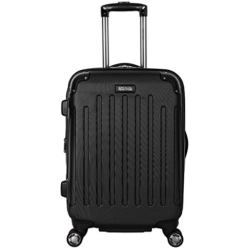 "Kenneth Cole Reaction Renegade 20"" Carry-On Lightweight Hardside Expandable 8-Wheel Spinner Cabin Size Suitcase, Black, inch"