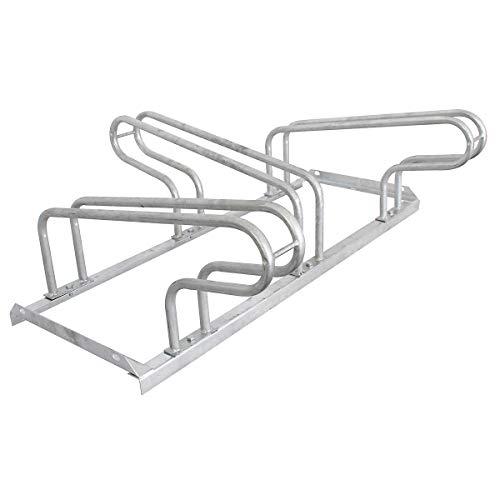 Certeo Soporte para bicicletas | 3 plazas de aparcamiento | 100 x 38 cm | Soporte de suelo para bicicletas