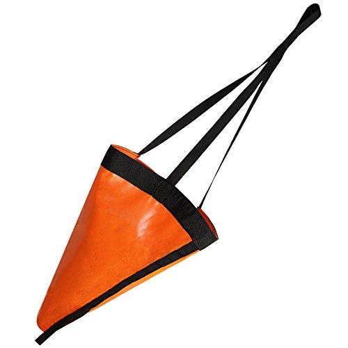 MOOCY 42' Trolling Sea Drift Sock,High Visibility Orange Anchor Drogue Drifting Brake for Boats/PWC/Kayaks