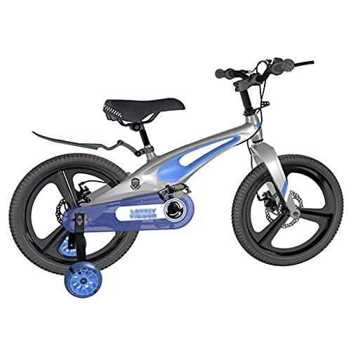 Bicicleta para niños 12 14 16 Bicicleta para Niños de 18 Pulgadas con Ruedas de Entrenamiento y Canasta para Niños de 3 A 9 Años, Niñas Bicicleta para Niños Pequeños Con Asiento y Asa Regulables en Al