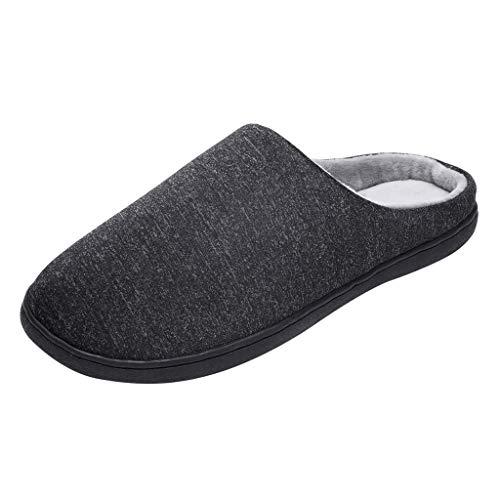 Vectry Zapatillas de casa Mujer, Forro algodón, Ultraligero cómodo y Antideslizante, Pantuflas de casa para Mujer Zapatos Negro