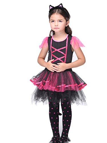 C.X Trendy Children's Halloween Gift Role Pretend Cats Cosplay Catarina Costume (L(6-7), cat)