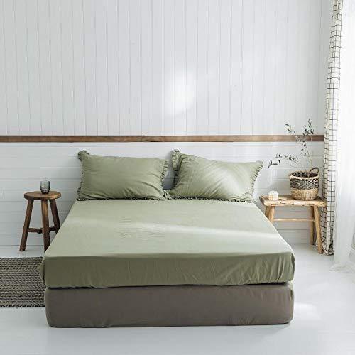 IKITOBI Sábanas bajeras ajustables extra profundas, sábanas bajeras de 180 cm x 200 cm