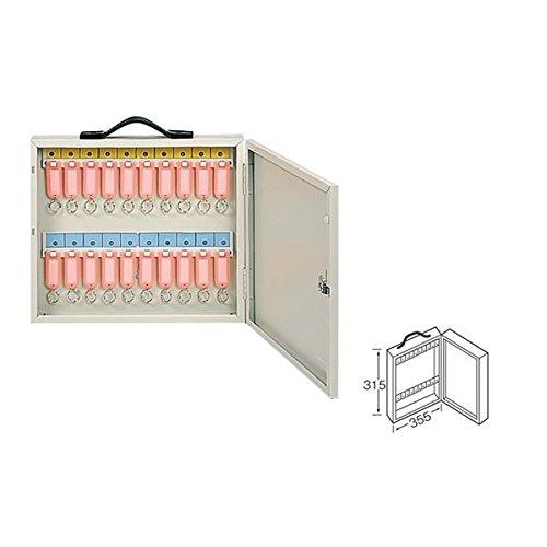 ワールドキーボックス/鍵収納箱 〔携帯・壁掛け兼用型/20本掛用〕 スチール製 水上金属 K-20