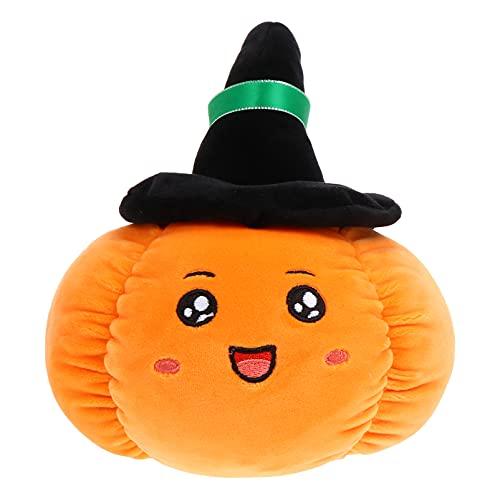 TOYANDONA Almohada de Felpa de Calabaza de Halloween Juguete de Felpa de Calabaza Almohada de Calabaza de Juguete Sofá Decorativo Cojín para Niños Pequeños 35Cm Naranja