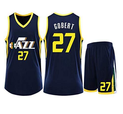 LLZYL Basketball Jersey - NBA Utah Jazz # 27 Rudy Gobert Kinder Erwachsener Anzug Jersey, Atmungsaktiv Swingman, Basketball Tops Und Shorts,A,S:150~154cm