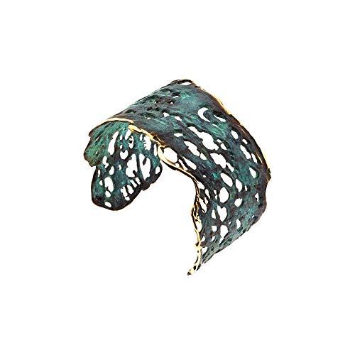 Pulsera Brazalete en Bronce Verde de la colección Calados