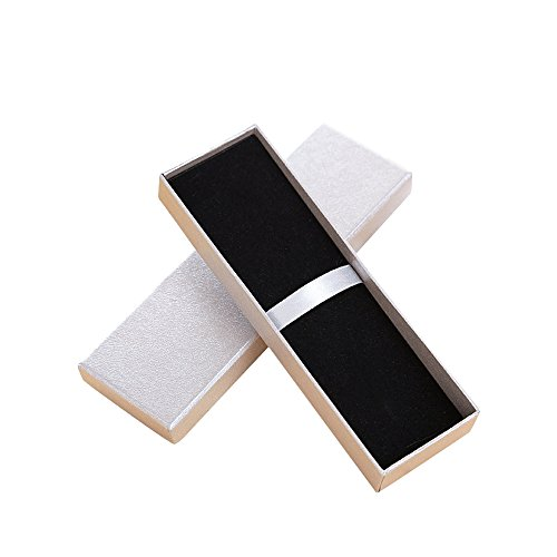 Zhi Jin, scatola regalo per penna a sfera, con cuscino, scatola vuota per matite, set da collezione per anniversari e occasioni d'affari, 5 pezzi Silver