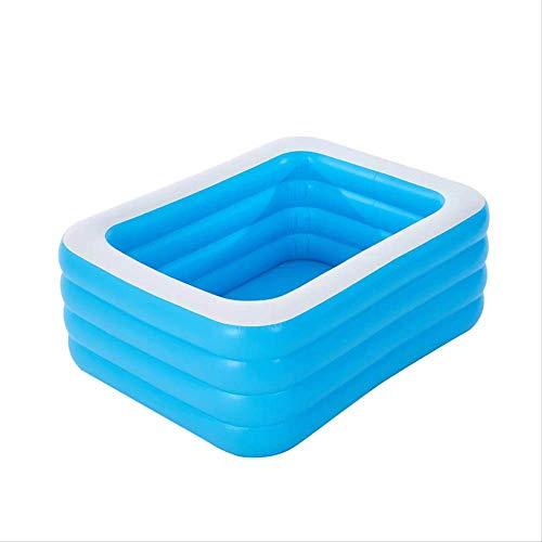 N-S Hogar al aire libre plegable azul engrosado rectangular inflable piscina adulto bañera de baño juego familiar 110-150 cm 130 cm