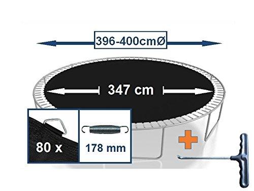 Sprungtuch Sprungmatte Ersatzteile für Trampolin Ø 396 cm 80 Ösen (Federn 17,8 cm)