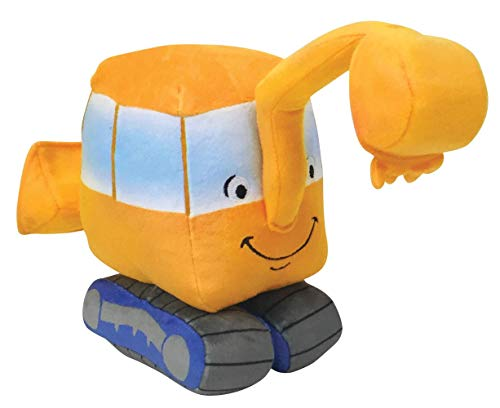 MerryMakers Little Excavator Plush Toy, 7-Inch