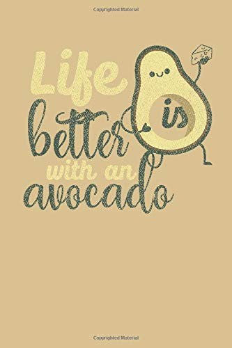 Life is better with an avocado: Recipes Black Journal Gifts for Wife Birthday Notebook Gifts for Mother/Recipes journal Gift 120 black Pages,6x9,soft Cover,Matte Finish