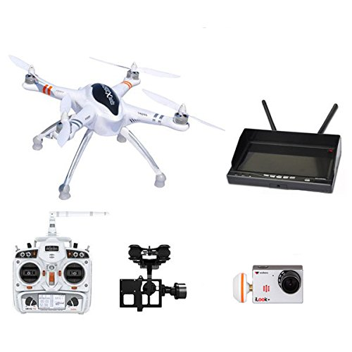 Xiangtat Walkera QR X350 Pro FPV RC Quadcopter Drone ilook+ DEVO10 G-2D Camera Gimbal RX-LCD5802 LCD Diversity Receiver Monitor