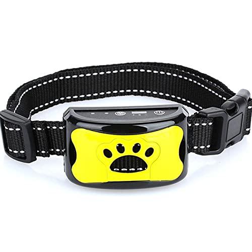 SWWLKJ Collar de Adiestramiento para Perros Antiladridos Recargable de Control de Trenes Impermeable para Detener los Ladridos del Perro Collares de Adiestramiento Ultrasónicos Impermeables