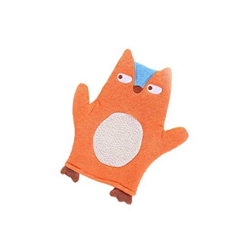 Baby-bad-handschuh Weichen Plüsch Badetuch Waschhandschuh Für Baby-kleinkind-tierform-karikatur Orange Fox Ideale Wahl Praktischer