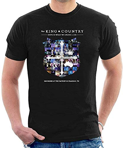 Men's for King and Country Hope is What We Crave Black T-Shirt Classic Cool tee