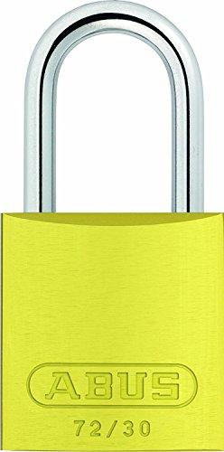 ABUS aluminium 30_amarillo 017919-72 hangslot van versterkt staal 30 mm, geel