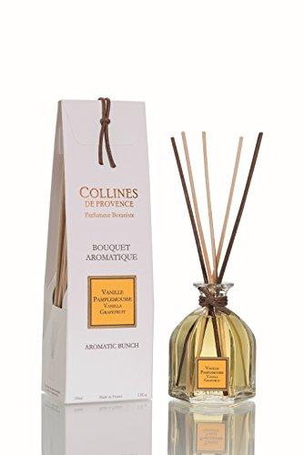 Collines de Provence - Duftbouquet/Duftdiffusor im Glasflakon 'Vanille-Grapefruit' (Vanille Pamplemousse) 100 ml