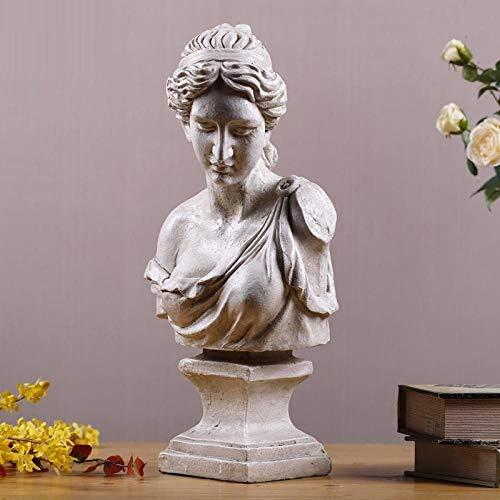 LOSAYM Estatua Decorativa Estatuas para Jardín Diosa Busto Escultura Arte Estatua Decoración del Hogar Estilo Nórdico Resina Artesanía Mitología