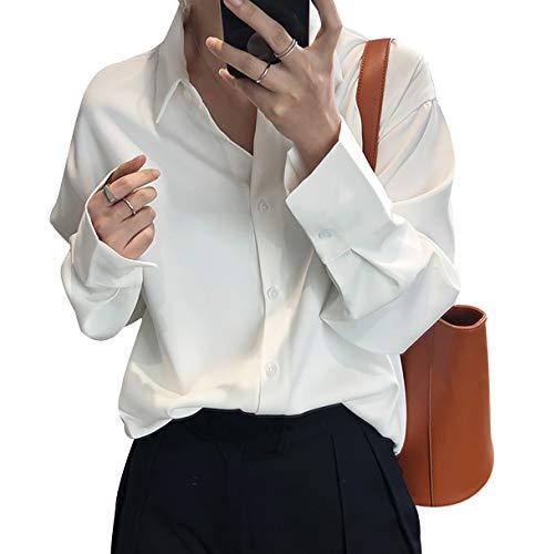 Camisas Mujer Blusa De Fiesta Mujer Blusas Y Camisas De Mujer Blusas Mujer Tallas Grandes Body Camisa Mujer Camisas De Mujer Blusa Mujer Talla Grande Camisa Tirantes Mujer Blanco L