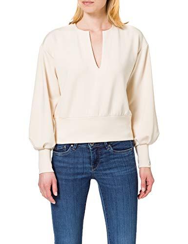 Scotch & Soda Maison Damen Weiches voluminösen Ärmeln Sweatshirt, 0003 Ecru, M