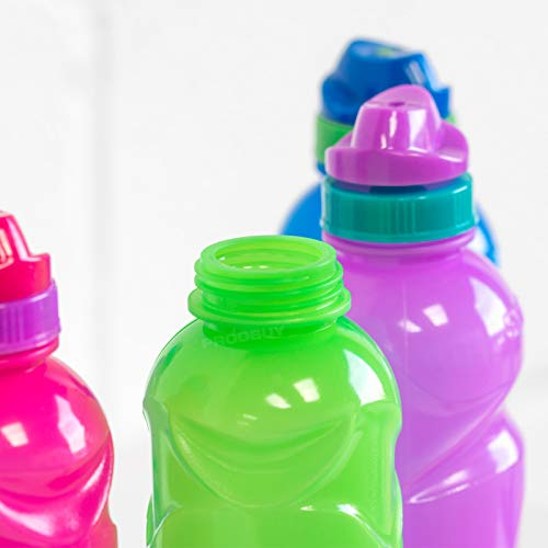 Set of 4 Colour BPA Free 500ml Plastic Water Drink Bottles School Kids Sport (Green & Blue)
