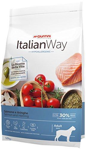 Giuntini Italian Way Crocchette per Cani - ricetta Ipoallergenica al Salmone e Aringhe - Adult - Maxi - 12000 gr